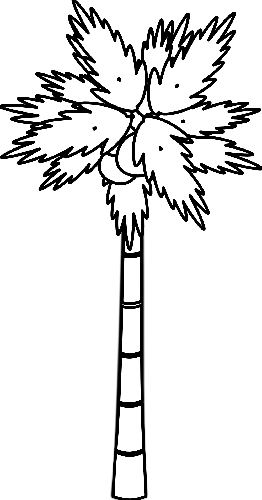 banner freeuse library palm tree clipart black and white #58199485