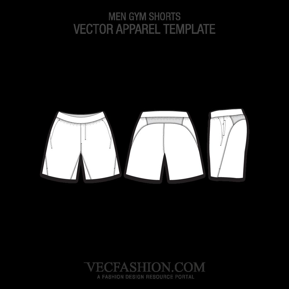 image royalty free stock Men gym shorts deportiva. Vector clothing fashion design