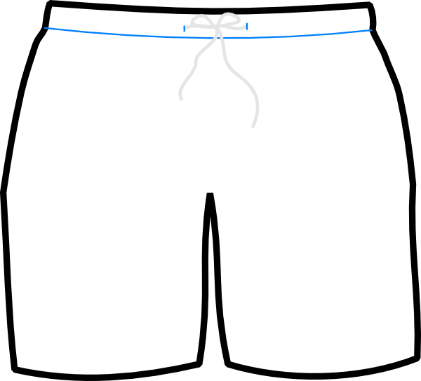 jpg royalty free stock  clipart football shorts. Underwear vector boxer briefs