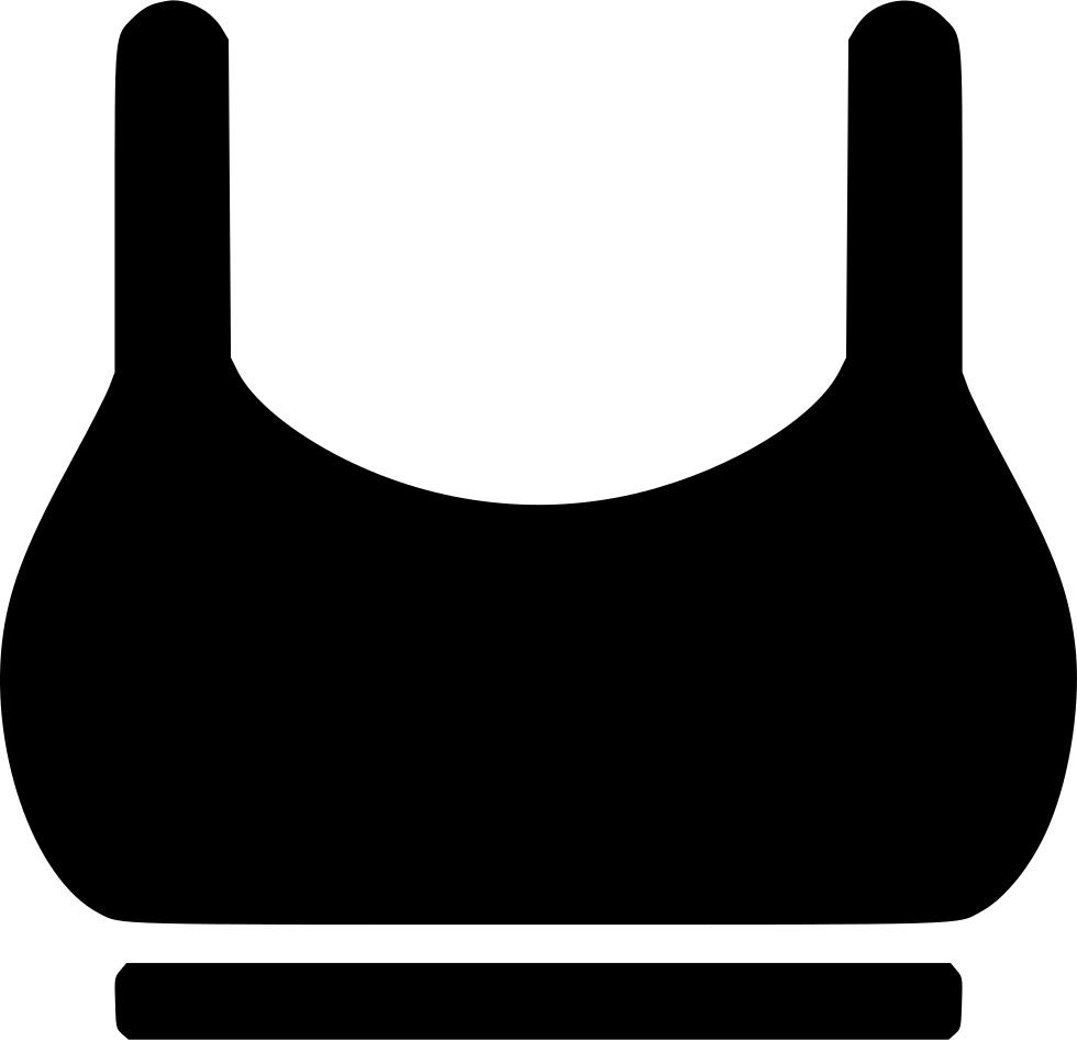 picture free download Underwear vector bra. Sport undergarment women svg