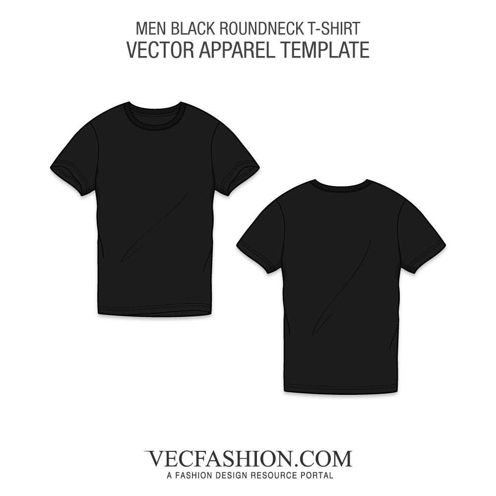 graphic library stock Black Round Neck T