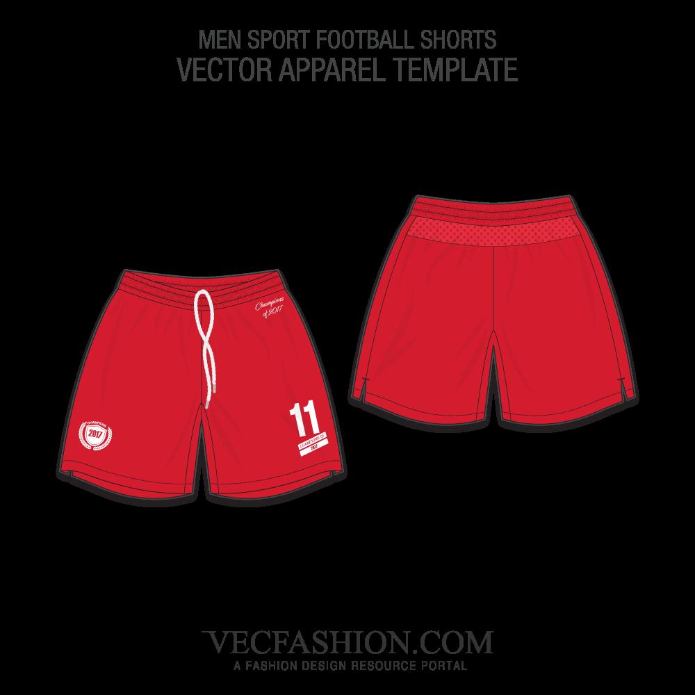 library Underwear vector flat. Men sport football shorts