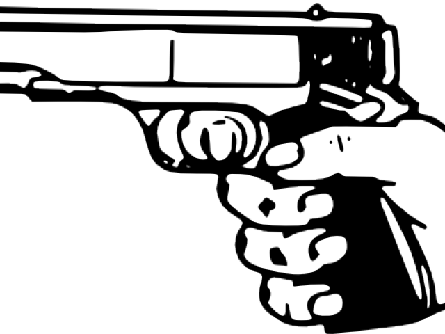 png black and white library Gun free on dumielauxepices. Shot clipart.
