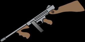 vector black and white vector firearm army gun #107824904