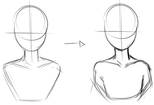 clipart royalty free stock Drawing necks female. Image result for how