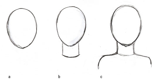 graphic library library Drawing neck head and. How to draw the