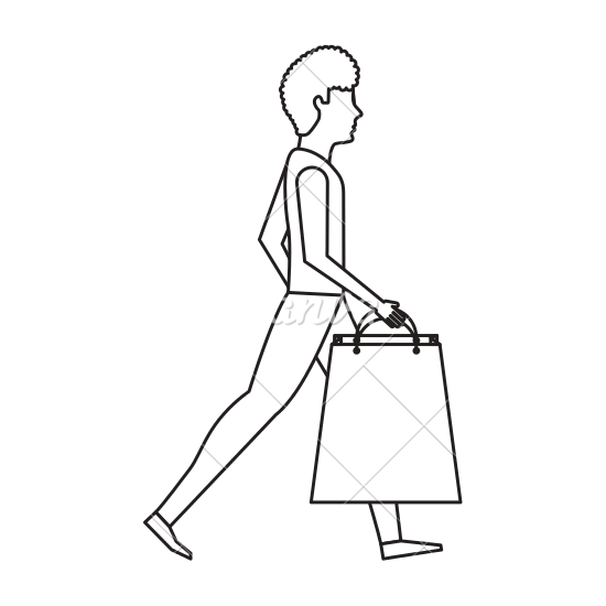 banner black and white library Shopping Bags Drawing at GetDrawings