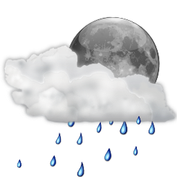 clip art freeuse stock Status showers scattered night. Showering clipart bad weather
