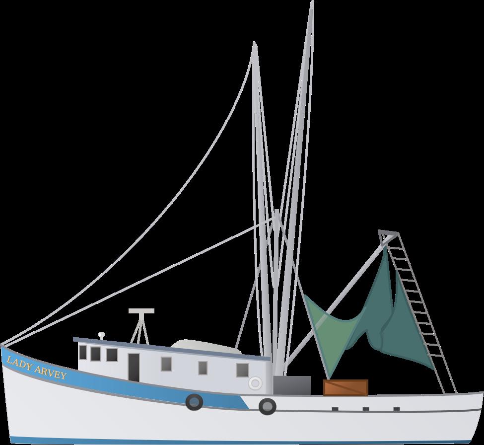 jpg royalty free Yacht clipart sportfish. Shrimp boat
