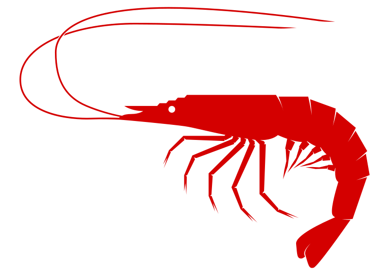 clip art black and white download Seafood clipart shrimp food