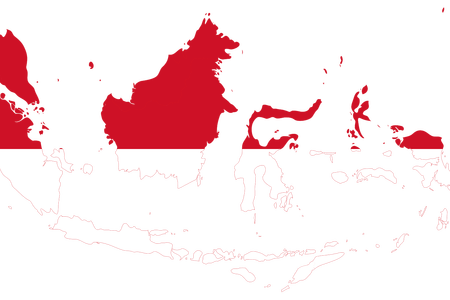 vector transparent indonesia map vector