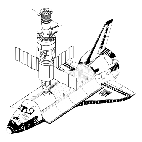 image transparent Shuttle clipart. Space png free images.