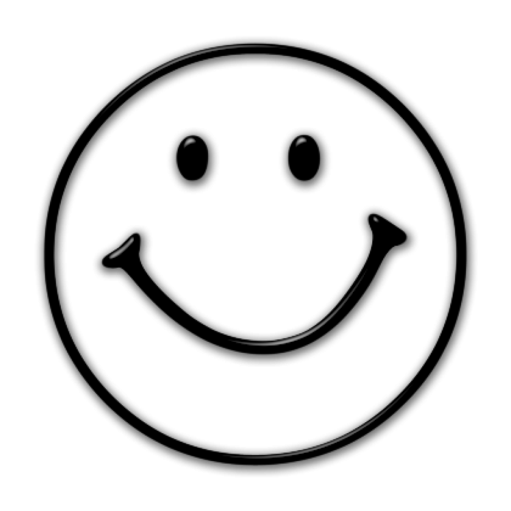 free library Happy face clipart black and white. Shy free for download
