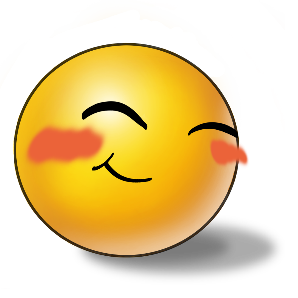 clipart transparent stock Blushing Face Clipart