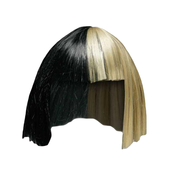 jpg black and white Sia transparent. Bob wig official store