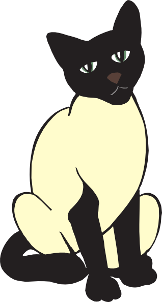clipart transparent Siamese Cat Free Clipart