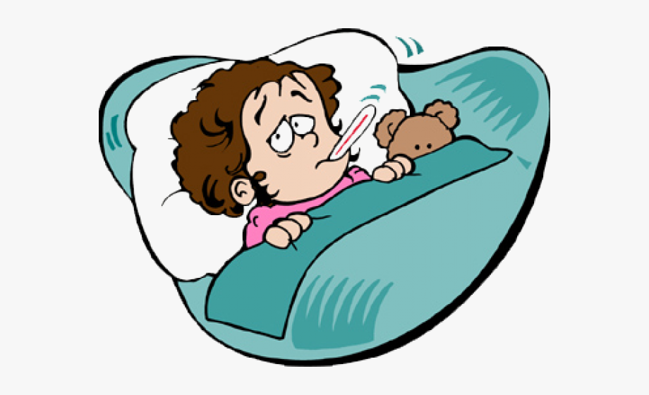 vector free stock Sick clipart. Student at home png
