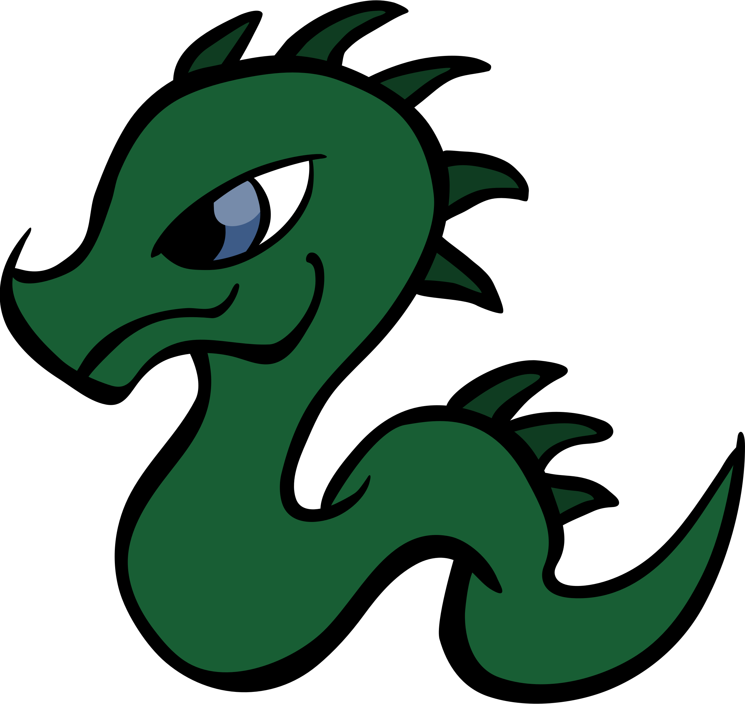 graphic black and white library Baby Dragon Clipart Group