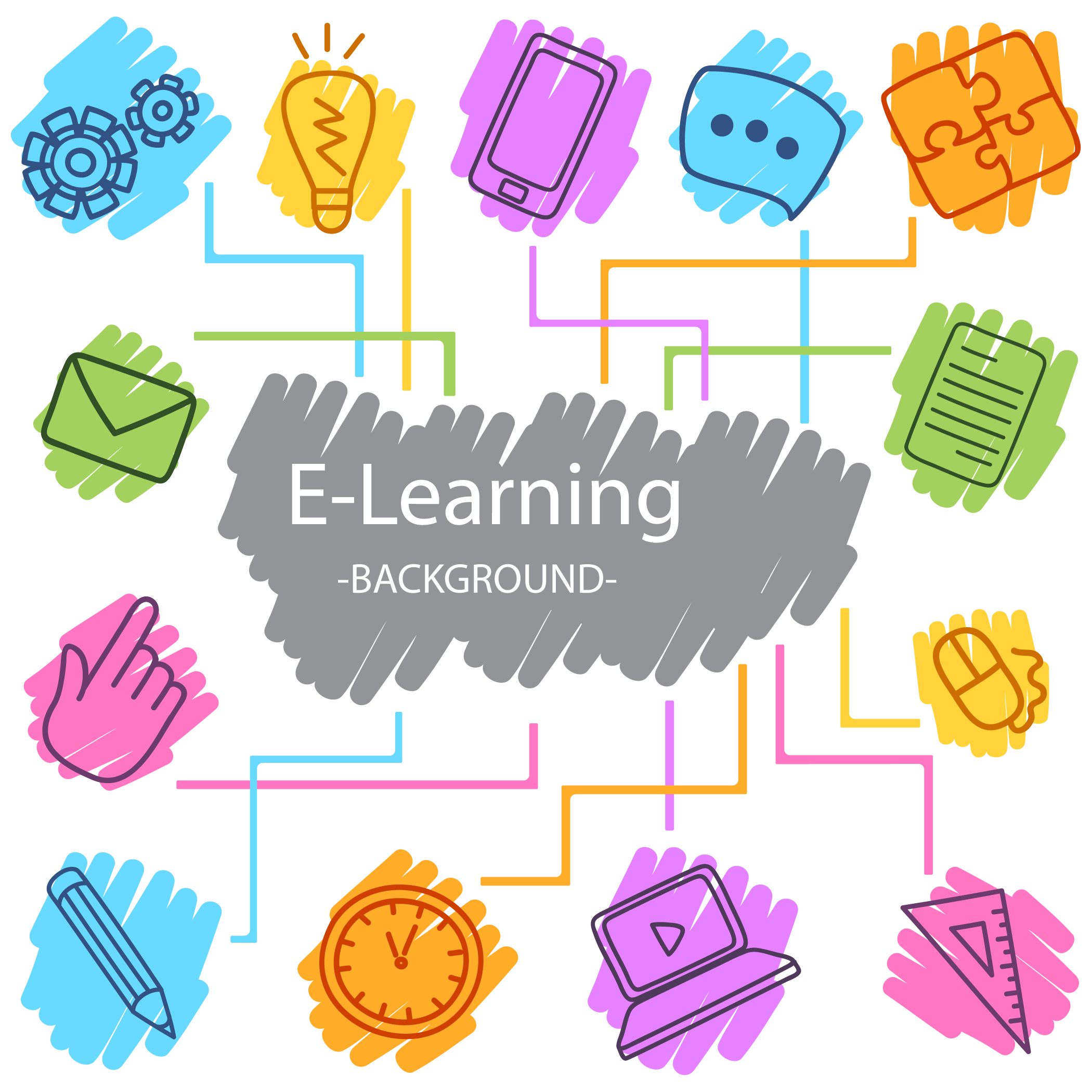 picture library stock Digital learning Digital data Icon