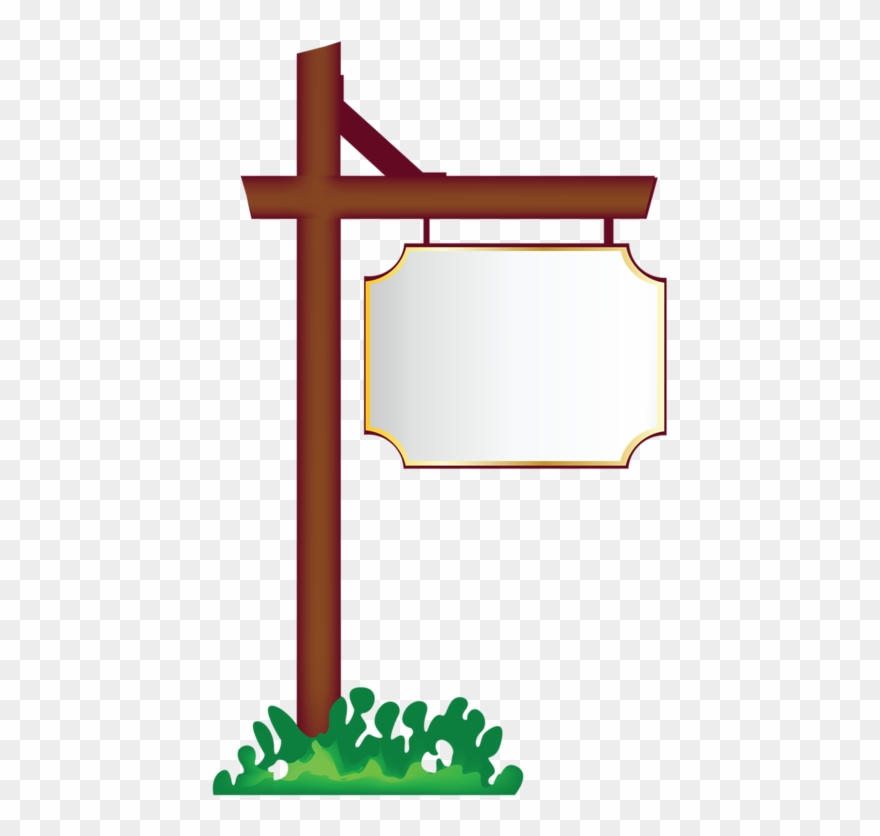 vector transparent Pancartes blank hanging png. Sign clipart.