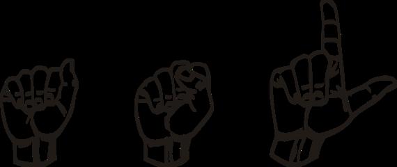 banner black and white Sign language clipart kids. Asl unlocking communication huffpost