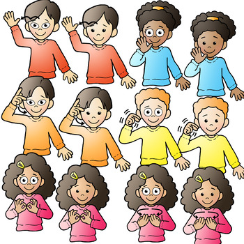 image transparent library Sign language clipart kids. Asl american signing family