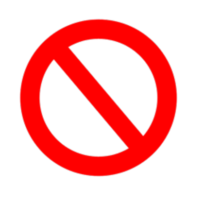 clipart royalty free stock BANNED SIGN