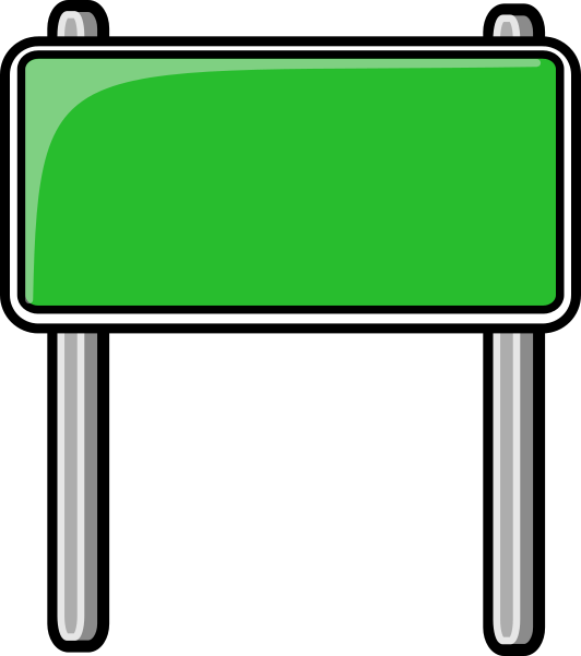 clipart highway sign green