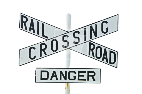 banner Railroad Crossing Sign PNG