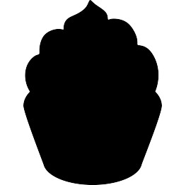 vector black and white Free clip art food. Silhouette clipart.