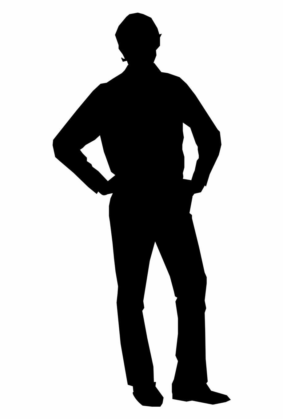 picture black and white library Akimbo male man png. Silhouette transparent