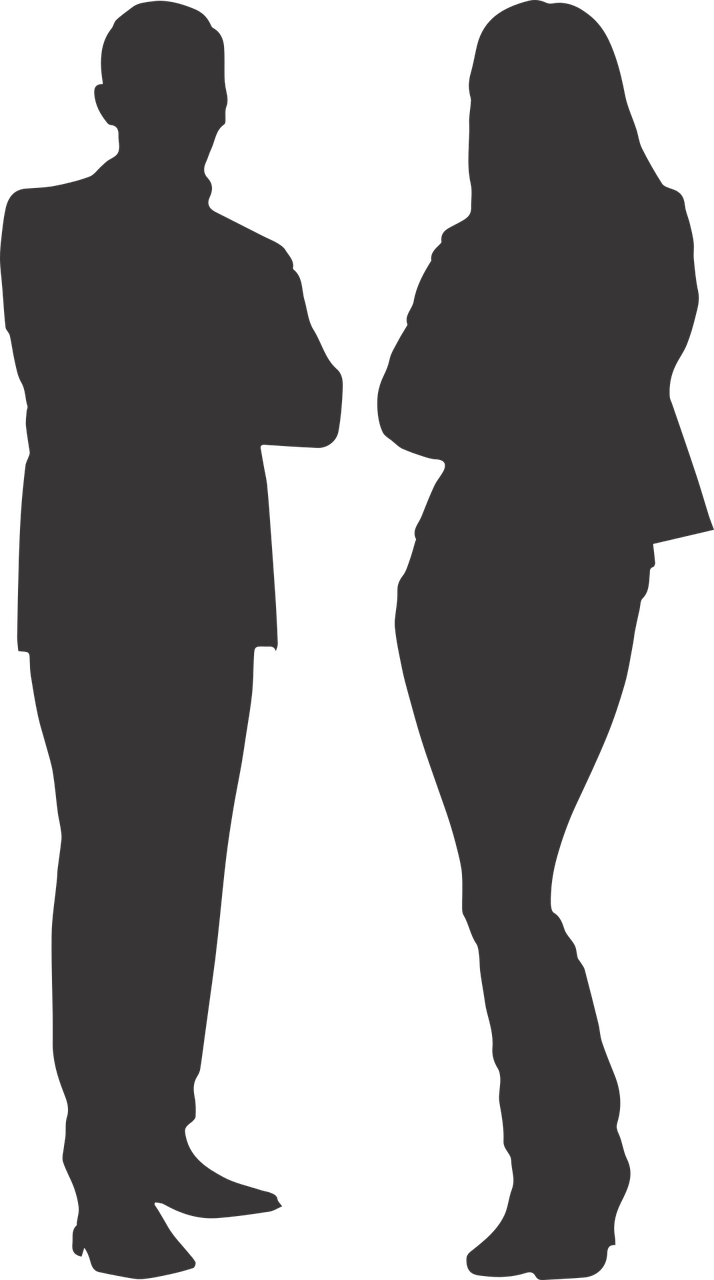 image freeuse stock Silhouette transparent. Man and woman png