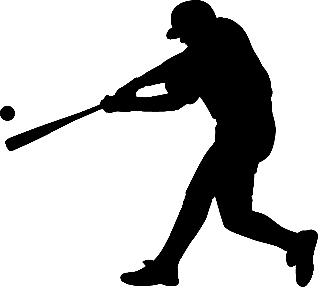 clip transparent library Baseball clip silhouette. Batting art png download