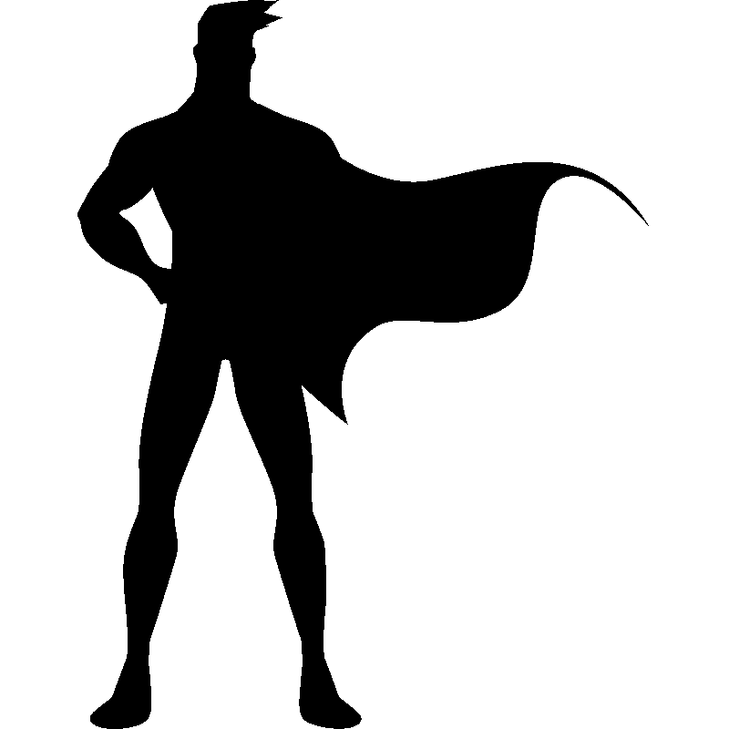 image library library silhouette transparent superhero #103068521