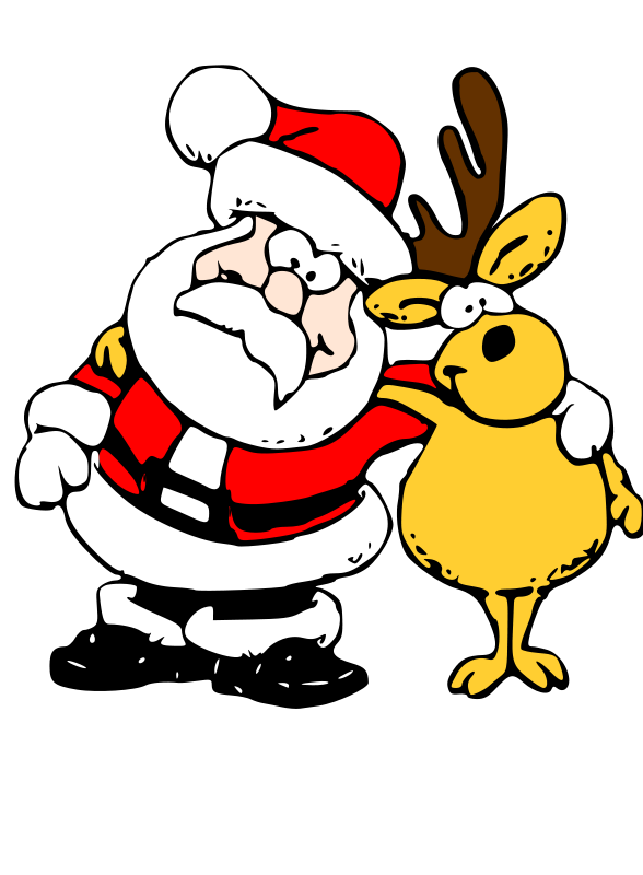 image royalty free download Santa . Silly clipart