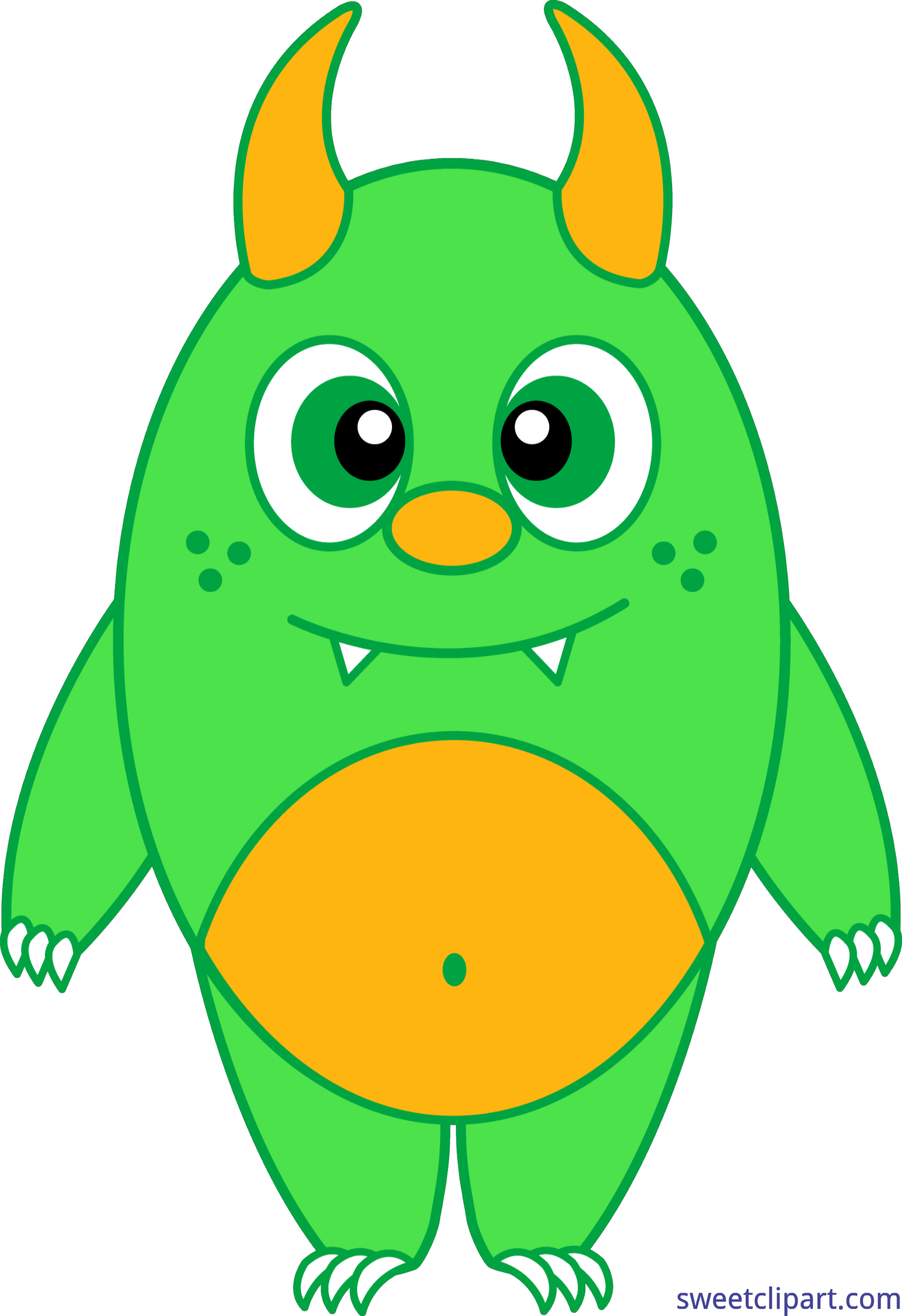 png freeuse download Silly clipart. Monster green clip art