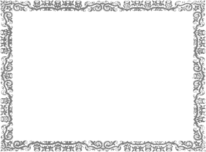 royalty free library Silver border clipart . Vector certificate decoration