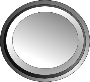 image black and white White Circle Button Clip Art at Clker