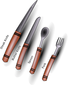 image freeuse Cutlery Silverware Clip Art at Clker