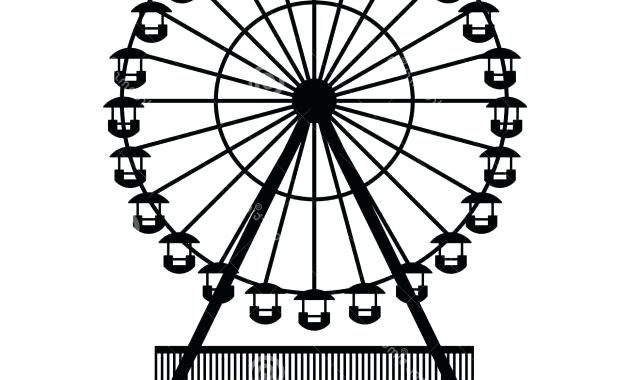 clipart library library Drawing at paintingvalley com. Simple ferris wheel clipart