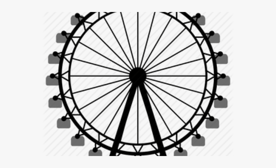 graphic library download Silhouette png drawing easy. Simple ferris wheel clipart
