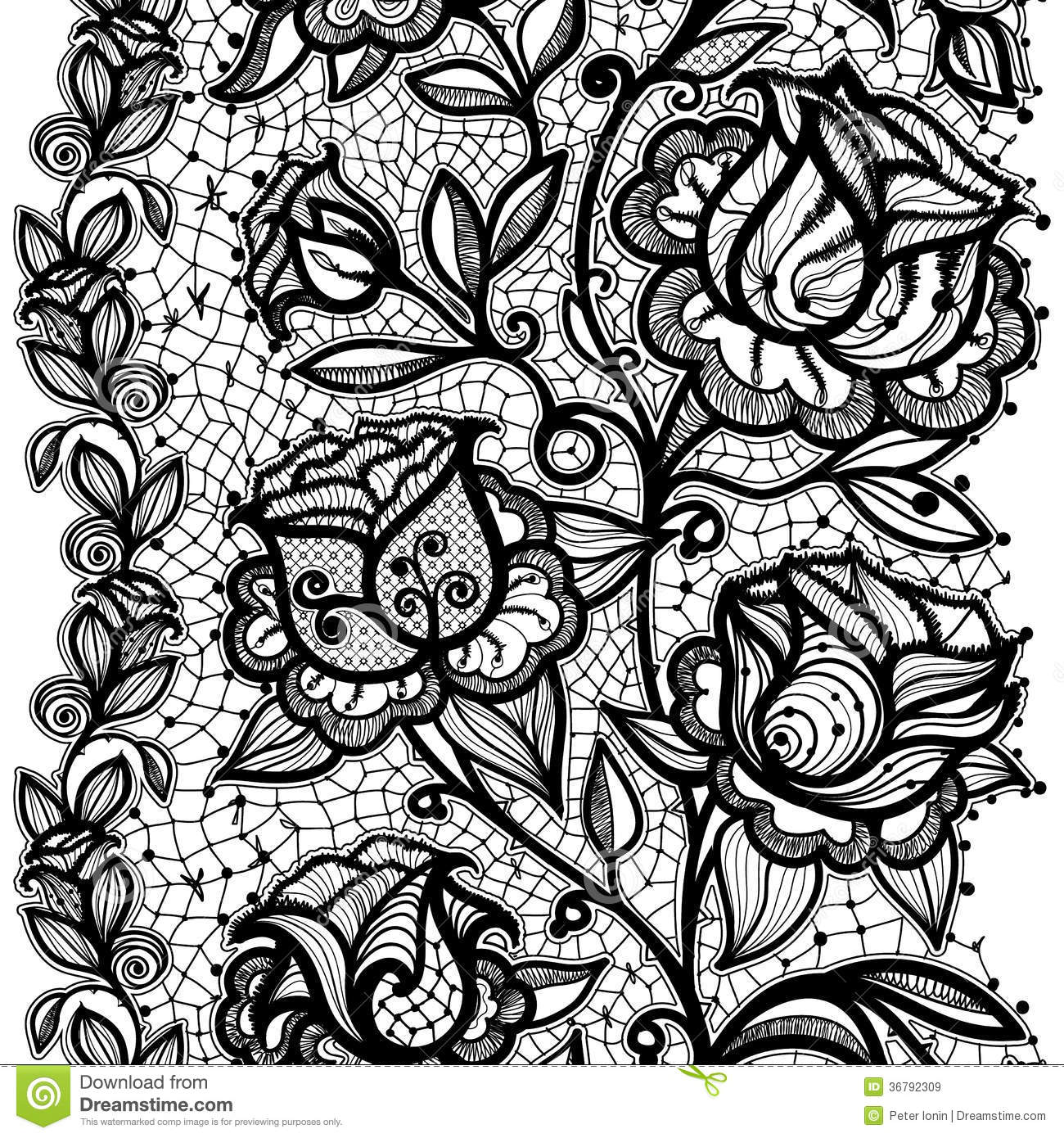 image free Portal . Simple lace patterns clipart.