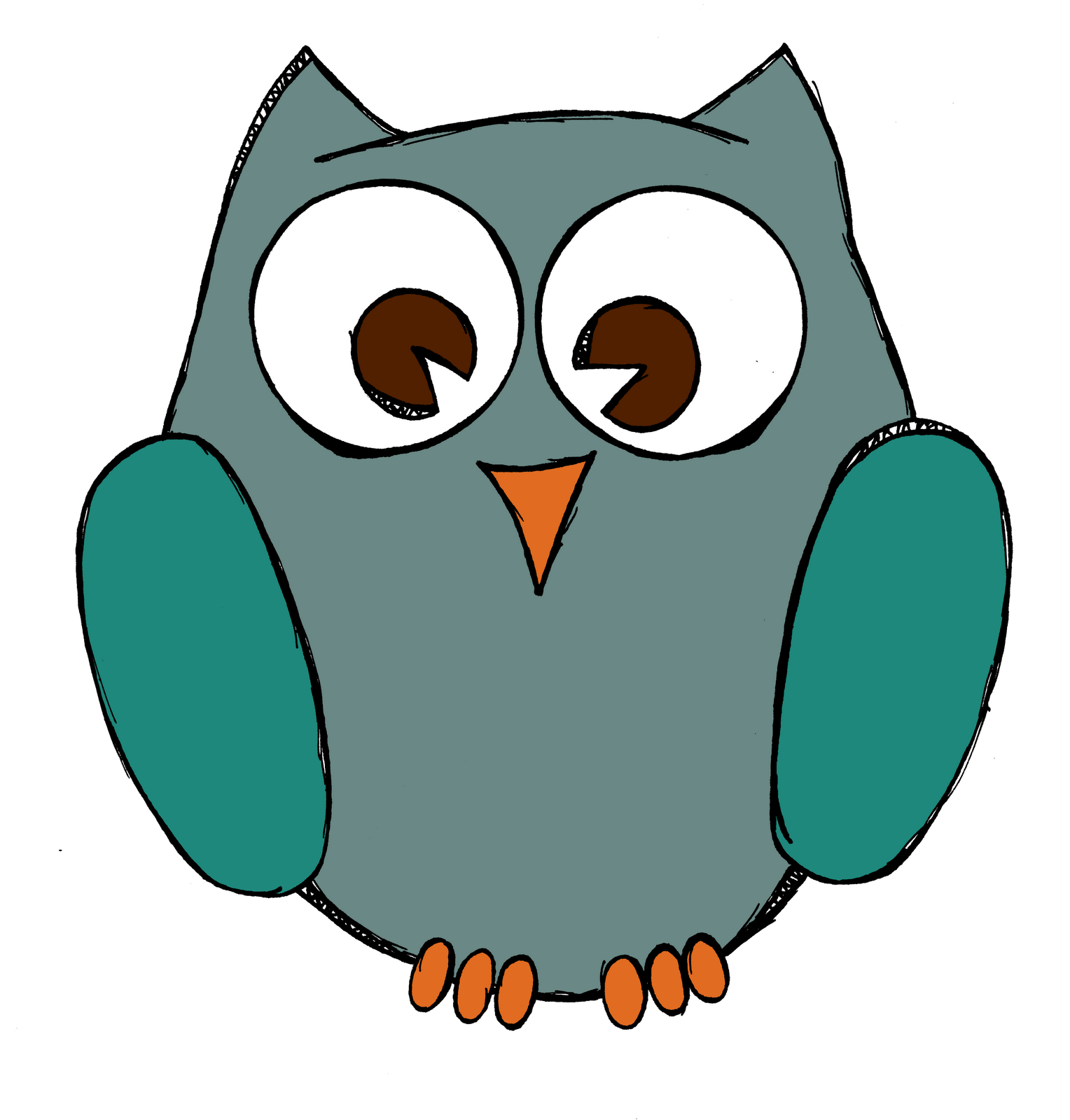clip black and white download Drawing owls simple. Owl drawings posted by