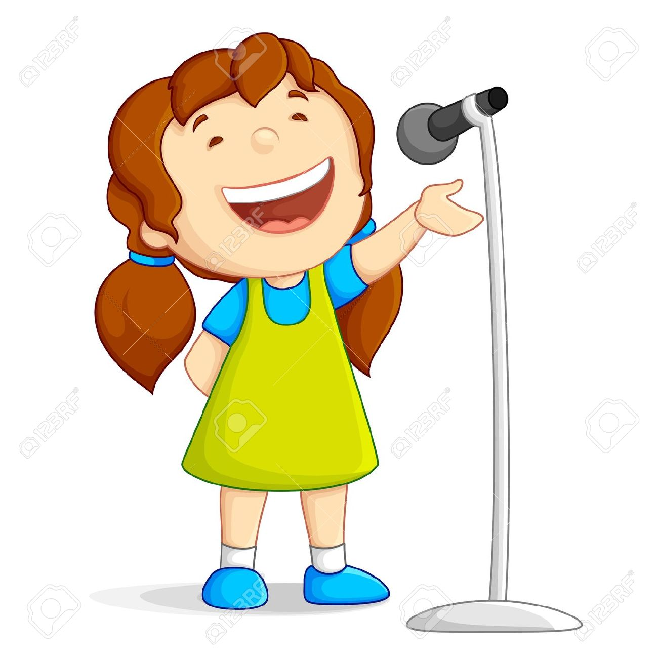 graphic royalty free download  sing clip art. Kid singing clipart.