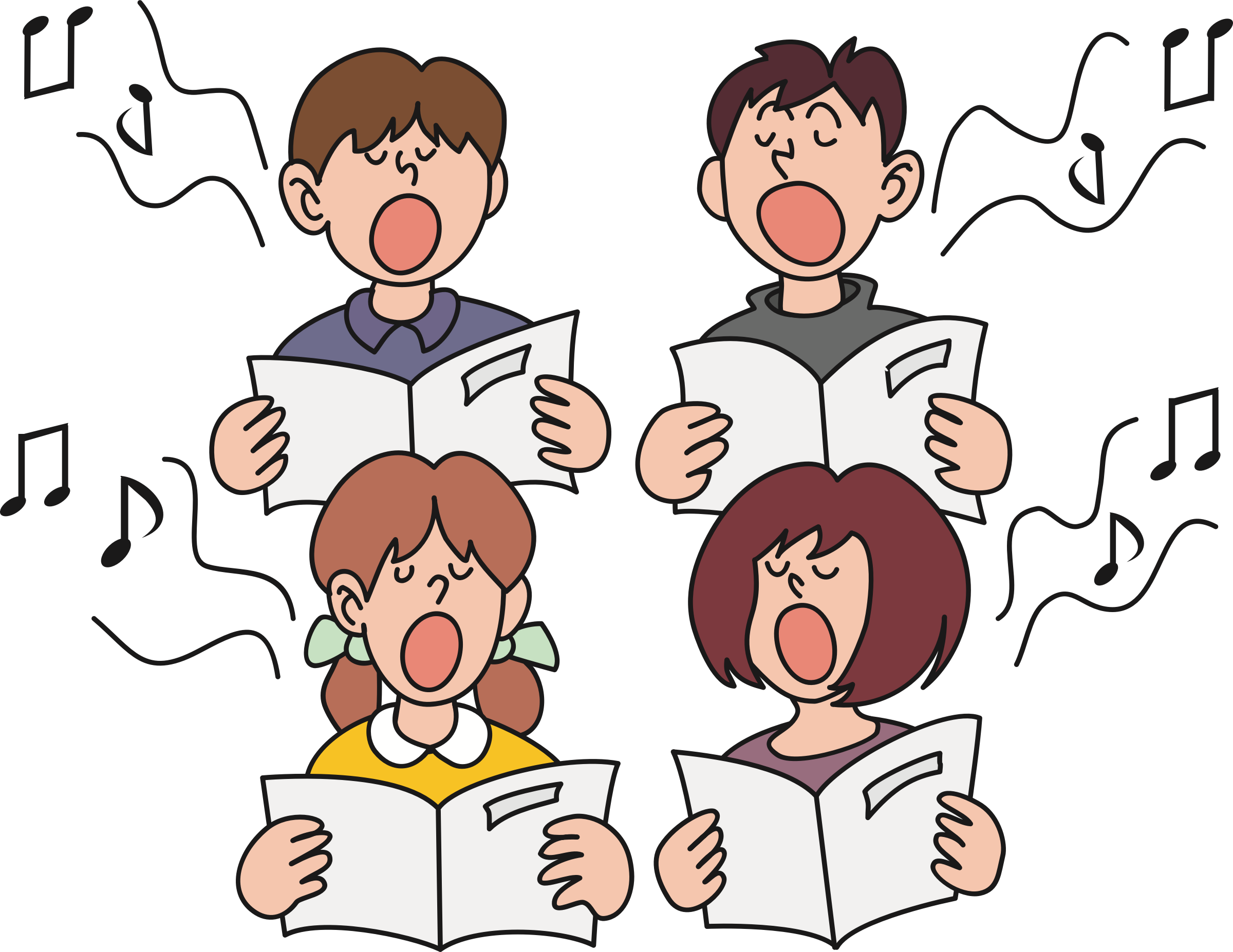 jpg royalty free download Sing clipart. Children singing big image.
