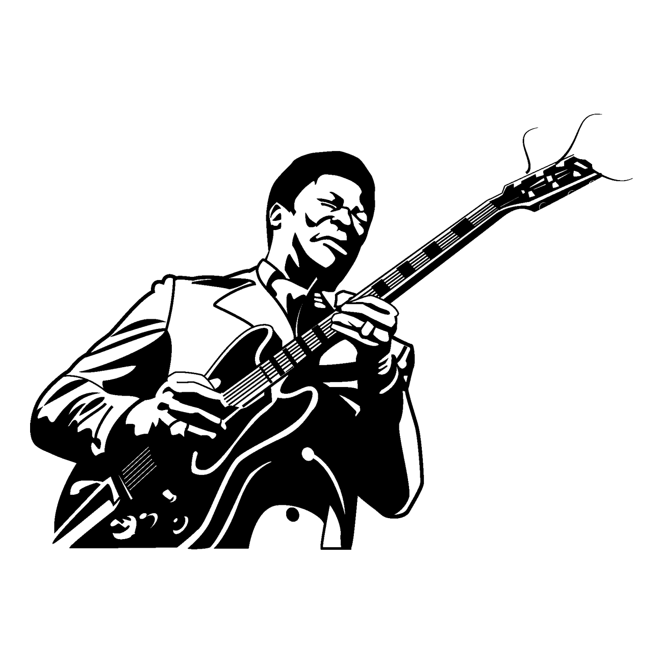 freeuse stock Musician Singer Blues Drawing