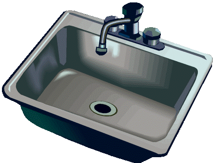 vector freeuse library Sink clipart. Kitchen