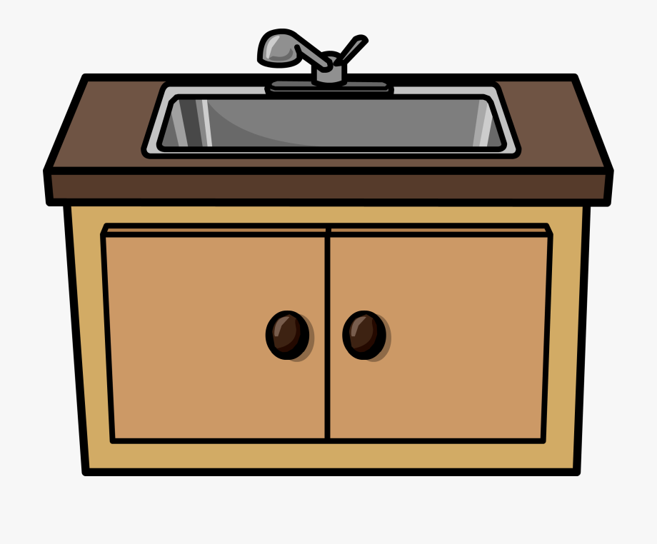 jpg library download Clip art free . Kitchen sink clipart
