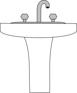 svg freeuse Clip art at clker. Sink clipart