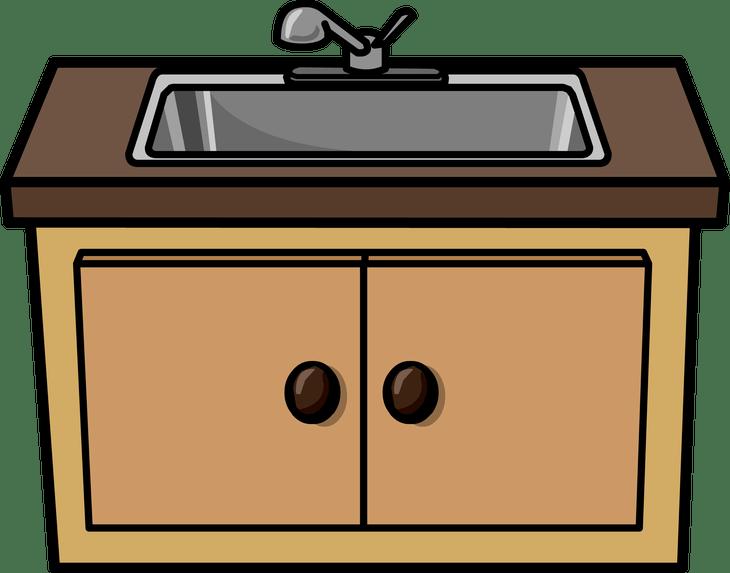 image transparent download Kitchen clip art contemporary. Sink clipart